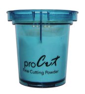 Aquacut Powder - Blue - Aluminium Oxide 29 Micron - Turned 3qtr Right - Trans Bkgd - RGB